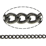 Brass Curb Chain plumbum black color plated twist oval chain nickel lead   cadmium free 1.60x1.20x0.30mm Length:100 m