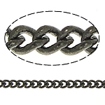 Brass Oval Chain, plumbum black color plated, twist oval chain, nickel, lead & cadmium free, 1.60x1.30x0.30mm, Length:100 m, Sold By Lot