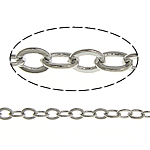 Brass Oval Chain, platinum color plated, nickel, lead & cadmium free, 2x1.50x0.20mm, Length:100 m, Sold By Lot