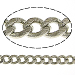 Brass Curb Chain platinum color plated nickel lead   cadmium free 3.30x2.70x0.60mm Length:100 m