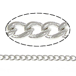 Brass Oval Chain, platinum color plated, twist oval chain, nickel, lead & cadmium free, 1.70x1x0.20mm, Length:100 m, Sold By Lot