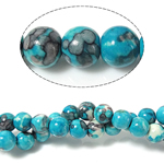 Rain Flower Stone Beads, Round, 6mm, Hole:Approx 0.8mm, Length:Approx 15 Inch, 10Strands/Lot, Approx 60PCs/Strand, Sold By Lot