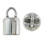 Końcówka ze stopu cynku, Stop cynku, Platerowane kolorem starego srebra, bez zawartości niklu, ołowiu i kadmu, 8x14mm, otwór:około 5.5mm, około 526komputery/KG, sprzedane przez KG