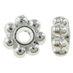 Zinc Alloy Spacer Beads, flower, antique silver color, nickel, lead & cadmium free, 4x2mm, Hole:Approx 0.5mm , about 2000pcs/KG , Sold by KG