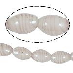 Wewnętrznie skręcone koraliki szklane, Lampwork, Owal, różowy, 11x18mm, otwór:około 1.5mm, 100komputery/torba, sprzedane przez torba