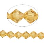 Symetryczne kryształowe koraliki, Kryształ, Podwójny stożek, fasetowany, słoneczny, 8x8mm, otwór:około 1.5mm, długość:12.5 cal, 10nici/torba, sprzedane przez torba