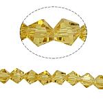 Bicone Crystal Beads, Kristal, gefacetteerde, Zon, 6x6mm, Gat:Ca 1mm, Lengte:10.5 inch, 10strengen/Bag, Verkocht door Bag