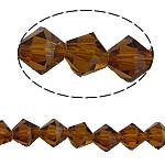 Bicone Crystal Beads, Kristal, gefacetteerde, Smoked Topaz, 8x8mm, Gat:Ca 1.5mm, Lengte:10.5 inch, 10strengen/Bag, Verkocht door Bag