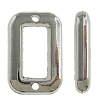 Copper Coated Plastic Connector, Rectangle, platinum color plated, 1/1 loop, nickel, lead & cadmium free, 20x13x4mm, Hole:Approx 0.5mm, 5Bags/Lot, 500/Bag, Sold By Lot