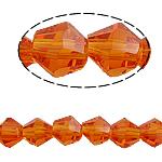 Bicone Crystal Beads, Kristal, gefacetteerde, Fire Opal, 5x5mm, Gat:Ca 0.5mm, Lengte:11.5 inch, 10strengen/Bag, Verkocht door Bag