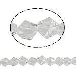 Bicone Crystal Beads, Kristal, gefacetteerde, Kristal, 5x5mm, Gat:Ca 0.5mm, Lengte:11.5 inch, 10strengen/Bag, Verkocht door Bag