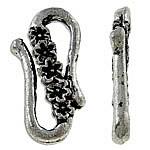 Zapięcie w kształcie S ze stopu cynku, Stop cynku, Platerowane kolorem starego srebra, bez zawartości niklu, ołowiu i kadmu, 24x14x3mm, około 270komputery/KG, sprzedane przez KG