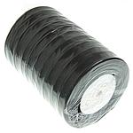 Organza Ribbon, black, 12mm, Length:500 Yard, 10PCs/Lot, Sold By Lot