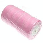 Organza Ribbon, pink, 40mm, Length:250 Yard, 5PCs/Lot, Sold By Lot