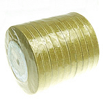 Sparkle Ribbon, gold, 10mm, Length:250 Yard, 10PCs/Lot, Sold By Lot