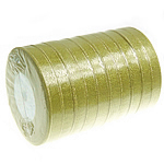 Sparkle Ribbon, gold, 12mm, Length:250 Yard, 10PCs/Lot, Sold By Lot