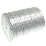 Sparkle Ribbon, silver, 12mm, Length:250 Yard, 10PCs/Lot, Sold By Lot