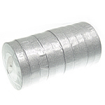 Sparkle Ribbon, silver, 20mm, Length:250 Yard, 10PCs/Lot, Sold By Lot