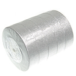 Sparkle Ribbon, silver, 25mm, Length:125 Yard, 5PCs/Lot, Sold By Lot