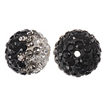 Rhinestone Clay Pave Beads, 10mm, Hole:Approx 2mm, Sold by Bag