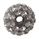 Rhinestone Clay Pave Beads, Round, with 75 pcs rhinestone & with A grade rhinestone, 8mm, Hole:Approx 1.5mm, 10PCs/Bag, Sold By Bag
