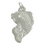 925 Sterling Silver Pendant, Fish, 10.80x18.70x4.50mm, Hole:Approx 3.8mm, 3PCs/Bag, Sold By Bag