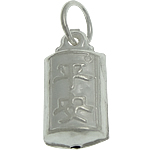 925 Sterling Silver Pendant, Rectangle, 6.80x14x5mm, Hole:Approx 4mm, 3PCs/Bag, Sold By Bag