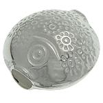 Srebrne koraliki 925, Srebro 925, Ryba, 12.30x12.50x7.80mm, otwór:około 3.2mm, 5komputery/torba, sprzedane przez torba