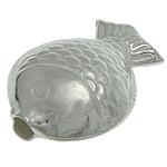 Srebrne koraliki 925, Srebro 925, Ryba, 14.30x10.80x5.50mm, otwór:około 2mm, 5komputery/torba, sprzedane przez torba