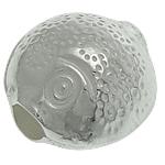 Srebrne koraliki 925, Srebro 925, Ryba, 8.20x8.40x6mm, otwór:około 2mm, 10komputery/torba, sprzedane przez torba