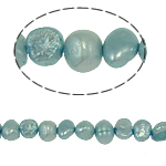 Baroque Cultured Freshwater Pearl Beads, light blue, 4-5mm, Hole:Approx 0.8mm, Sold Per 15 Inch Strand