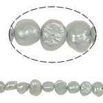 Baroque Cultured Freshwater Pearl Beads, grey, 4-5mm, Hole:Approx 0.8mm, Sold Per 14.5 Inch Strand