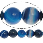 Natural Blue Agate Beads, Lace Agate, Round, 16mm, Hole:Approx 1.5mm, Length:15.5 Inch, 5Strands/Lot, Sold By Lot