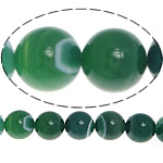 Natural Green Agate Beads, Round, stripe, 10mm, Hole:Approx 1.2mm, Length:Approx 14 Inch, 5Strands/Lot, Sold By Lot