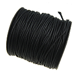 Wax Cord, black, 1.50mm, Length:80 Yard, Sold By PC