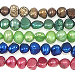 Baroque Cultured Freshwater Pearl Beads, mixed colors, 5-6mm, Hole:Approx 0.8mm, Length:15 Inch, 10Strands/Bag, Sold By Bag