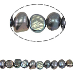 Baroque Cultured Freshwater Pearl Beads, black, 5-6mm, Hole:Approx 0.8mm, Sold Per 14.5 Inch Strand