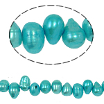Baroque Cultured Freshwater Pearl Beads, blue, 6-7mm, Hole:Approx 0.8mm, Sold Per 14.5 Inch Strand