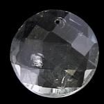 Zawieszki kryształowe, Kryształ, Płaskie koło, kryształowy, 18x7mm, otwór:około 1mm, 10komputery/torba, sprzedane przez torba