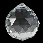 Crystal Pendants, Teardrop, Crystal, 40x45mm, Hole:Approx 2mm, Sold By PC