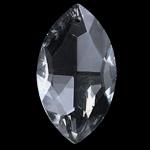 Zawieszki kryształowe, Kryształ, Końskie oko, kryształowy, 20-21X36-37X11-12mm, otwór:około 1.5mm