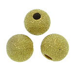 Brass Stardust Beads, gold color, nickel, lead & cadmium free, 6mm, Hole:Approx 1.5mm , 3000pcs/Bag , Sold by Bag