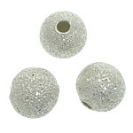 Brass Stardust Beads, silver color, nickel, lead & cadmium free, 6mm, Hole:Approx 1.5mm , 3000pcs/Bag , Sold by Bag