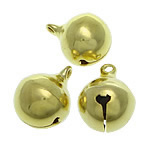 Brass Bell Pendant, gold color plated, lead & cadmium free, 16x20mm, Hole:Approx 2.5mm, 300PCs/Bag, Sold By Bag