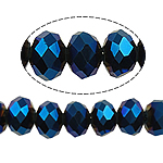Rondelle Crystal Beads, imitation CRYSTALLIZED™ element crystal, Indicolite, 8x10mm, Hole:Approx 1mm, Length:Approx 22 Inch, 10Strands/Bag, Approx 72PCs/Strand, Sold By Bag
