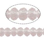 Rondelle Crystal Beads, imitation CRYSTALLIZED™ element crystal, Lt Peach, 4x3mm, Hole:Approx 1mm, Length:Approx 20 Inch, 10Strands/Bag, Approx 150PCs/Strand, Sold By Bag