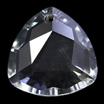 Crystal Pendants, Triangle, Crystal, 28x11mm, Hole:Approx 2mm, Sold By PC