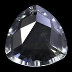 Zawieszki kryształowe, Kryształ, Trójkąt, kryształowy, 28x11mm, otwór:około 2mm, sprzedane przez PC