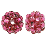 Resin Rhinestone Beads, 10x12mm, Hole:Approx 2mm, Sold by Bag
