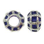 Zinc Alloy European Beads, Rondelle, without troll & enamel, purple, nickel, lead & cadmium free, 11x7mm, Hole:Approx 5mm, 10PCs/Bag, Sold By Bag